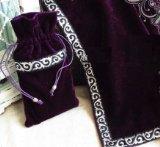[Lupi Lupi]タロットクロス 神秘的な シルバーの刺繍の縁取り ベルベット タロット 占い カード タロットカード 同柄のポーチ付き!